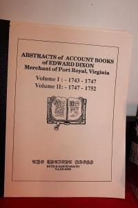 HPR Books Abstracts of Account Books of Edward Dixon, Merchant of Port Royal, VA (400x600)