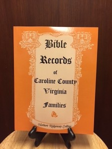 Bible Records Caroline County copy