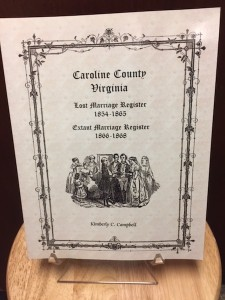 Caroline County Lost Marriage Register